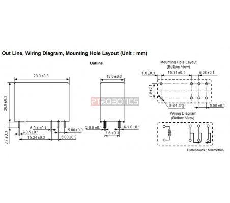 Relay SPDT 230V 16A Coil 24V   Relés  