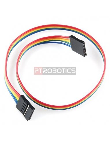 5Pin Female to Female Jumper Cable - 30cm | Assemblados |