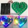 Kit DIY Leds Intermitentes com USB - Forma Coração