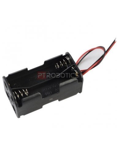 Battery Holder - 4xAA w/ Wire Leads | Suporte Pilhas |