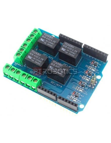 4 Channel 5V Relay Shield for arduino | Relés |