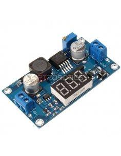 DC-DC Adjustable Boost Step up Converter 4.5-32V to 5-52V w/ LED Voltmeter