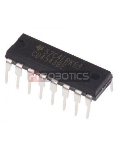 CD4543 - BCD to 7-Segment Latch Decoder Driver | CMOS 4000 |