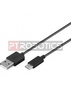 USB Type C Male to USB A Male Cable 1m - Black