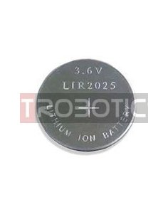 LIR2025 Li-ion Rechargeable Battery 3.6V 30mAh