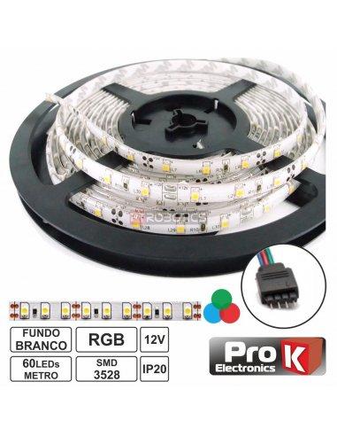 Strip 300 White Leds 3528 12V 5m - RGB Prok | Fitas Leds |