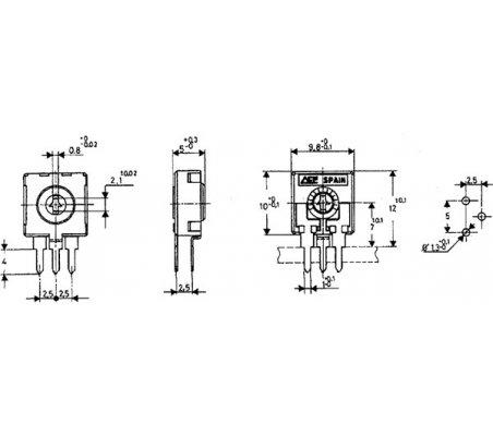 Single turn Carbon Trimmer 470K - Vertical | Trimmers |
