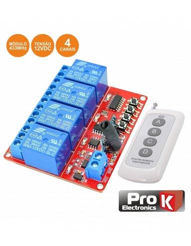 4 Channel RF Remote Control Prok PKER4I(H) | 315Mhz e 433Mhz |