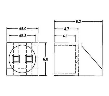 Led 5mm Angular Housing | Suporte Led |
