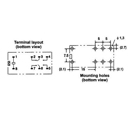 Omron G2R-2 230VAC Relay DPDT 5A 230Vac | Relés |