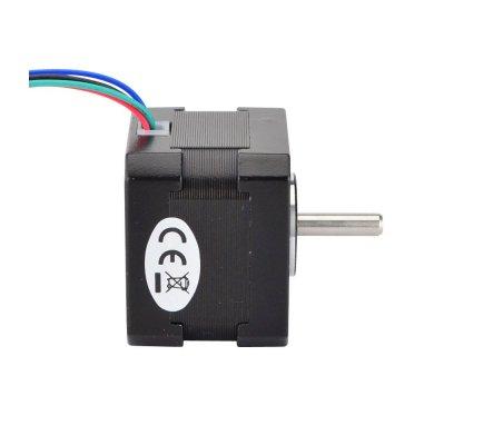 Nema 17 Bipolar 1.8deg 26Ncm (36.8oz.in) 0.4A 12V 42x42x34mm 4 Wires