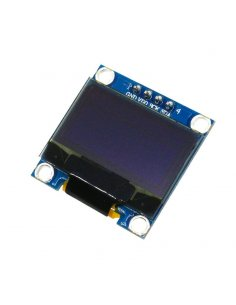 0.96inch OLED 128X64 w/ SPI/I2C interfaces and vertical pinheader 4pin - Blue