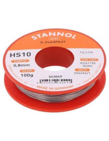 Solder wire 0.8mm Sn63Pb37 100Gr