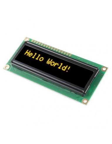 16x2 LCD Module - Amarelo on Black 5V   LCD Alfanumerico  