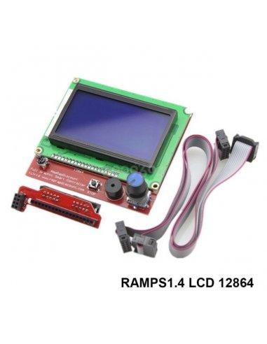 Ramps 1.4 12864 LCD RepRap 3D Printer / Impressora 3D with Smart Controller Display Adapter | Pontes H |