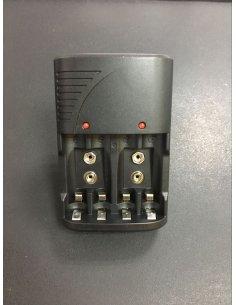 EU Plug 4 Slots 1.2V AA/AAA/9V/6F22 Li-ion/Nimh/Nicd Battery Charger