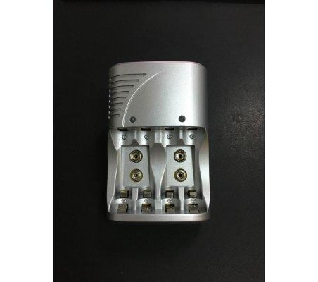 US Plug 4 Slots 1.2V AA/AAA/9V/6F22 Li-ion/Nimh/Nicd Battery Charger | Carregador de Baterias |