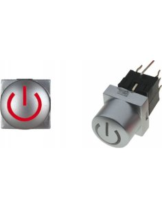 Microswitch 2 Position DPDT 0.1A 30V Red/Green Led