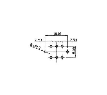 Microswitch 2 Position DPDT 0.1A 30V Red/Verde Led