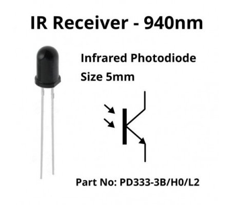 IR Emitter and Receiver LED 5mm 940nm