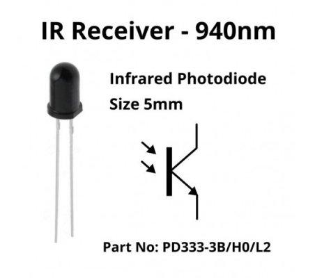 IR Emitter and Receiver LED 5mm 940nm | Sensores Ópticos |