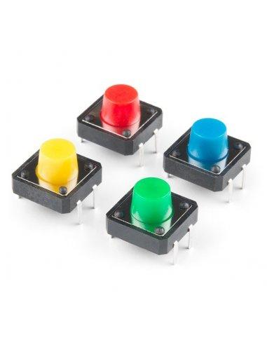 Tactile Button 12mm - Quadrado Vermelho