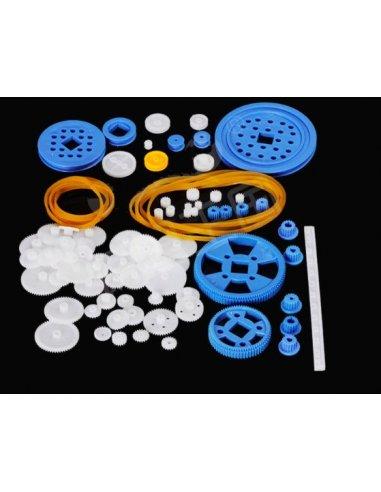 Plastic DIY Robot Gear Kit - 80Pcs