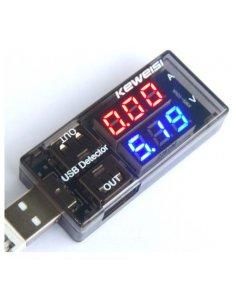 Dual USB Charger Digital Voltmeter Ammeter