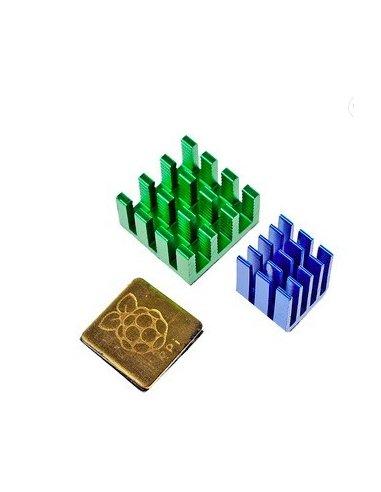 HeatSink Kit for Raspberry Pi B+, 2 and 3 - 3pcs   Varios - Raspberry Pi  
