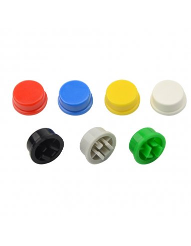 Switch Cap for Tactile Button 12mm - Vermelho