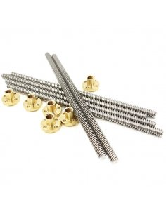 T8x400mm trapezoidal Lead Screw with Brass Nut
