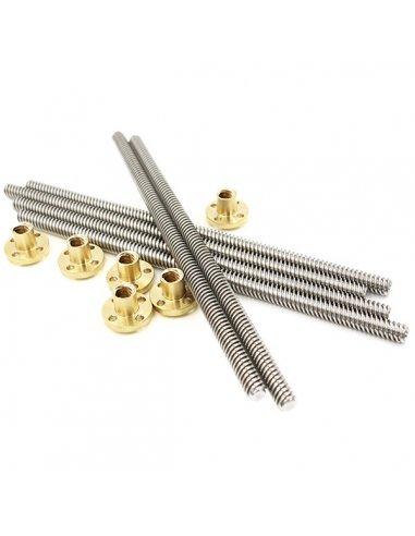 T8x400mm trapezoidal Lead Screw with Brass Nut