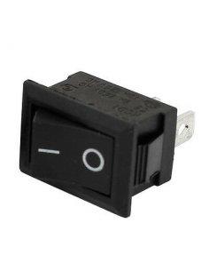 Rocker Switch SPST 6A 250V 3pin - Black