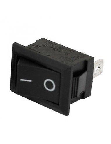 Rocker Switch SPST 6A 250V 3pin - Black | Basculante |