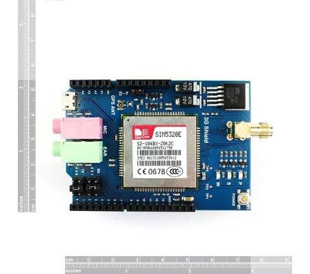 3G/GPRS/GSM Shield for Arduino with GPS - European version SIM5320E | GSM e 3G |