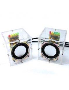 DIY Mini Amplifier Speaker Kit 65x65x70mm w/ Acrylic Case