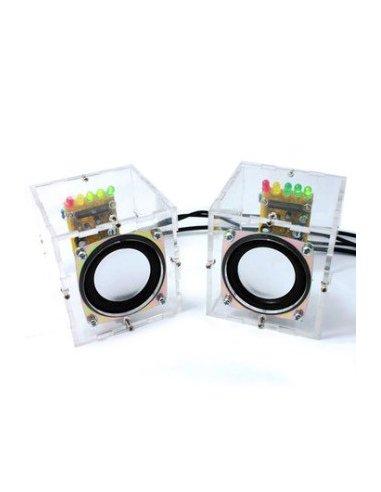 Kit DIY Mini Amplificador com Caixa de Acrílico 65x65x70mm | Ensino Secundário |