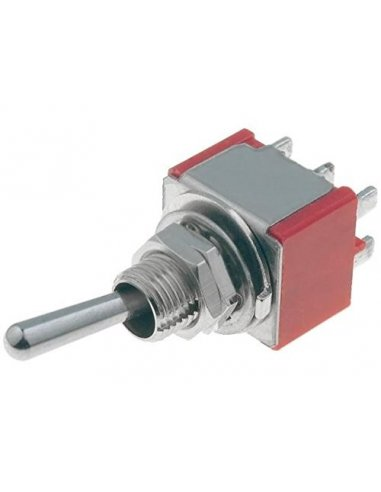 Toggle Switch DPDT (ON)-OFF-(ON) 250V 5A