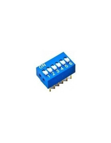 DIP Switch 6 way ON-OFF 0.05A 12V | Keypad Dil Reed |