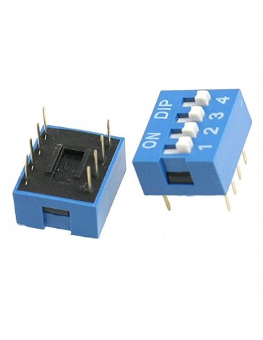 DIP Switch 4 way ON-OFF 0.05A 12V | Keypad Dil Reed |