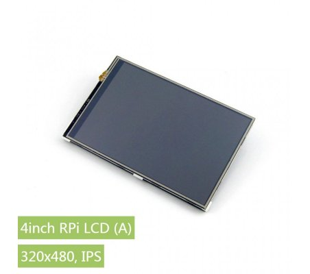 Waveshare 4inch Touch Screen TFT LCD 320×480 for Raspberry Pi | LCD Grafico |