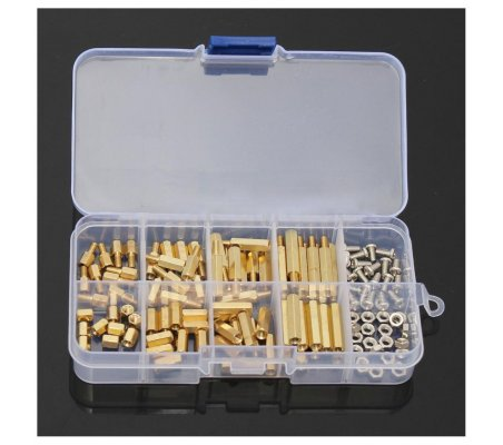 M3 Spacer, Screw and Nut Brass Kit - 120pcs