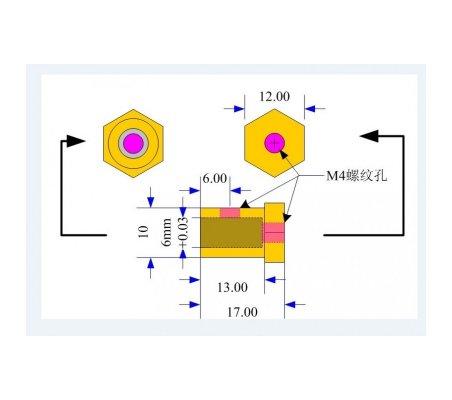 Wheel - Motor Adapter - Ø3mm Hole (2 Pack) | Hub's |