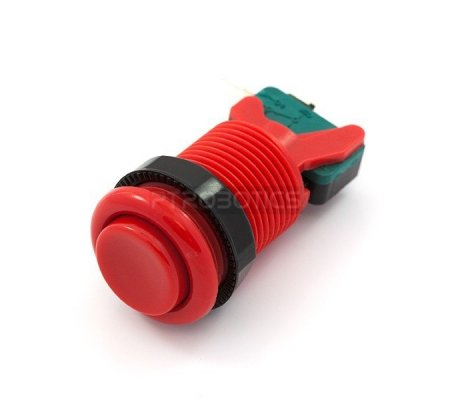 Concave Button - Red | Arcade |