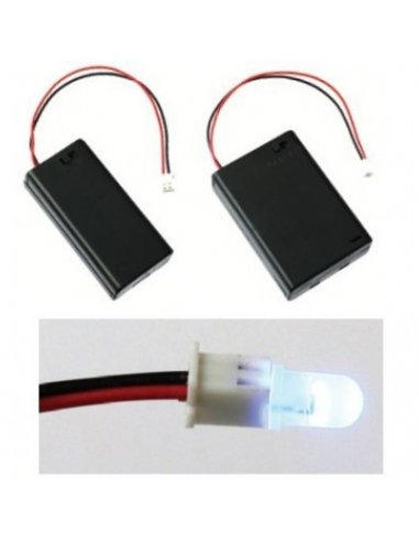 3xAA Battery Box w/ Switch and JST connector | Suporte Pilhas |