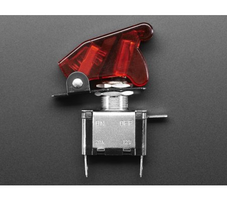 Illuminated Toggle Switch with Cover - Vermelho | Toggle Switch |