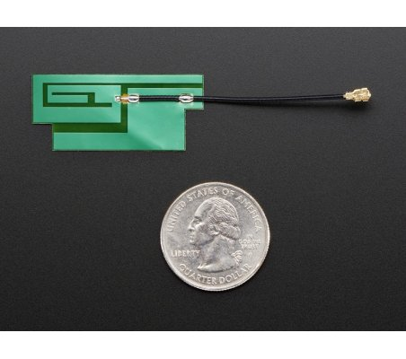 Slim Sticker-type GSM/Cellular Quad-Band Antenna - 3dBi uFL   Antenas  