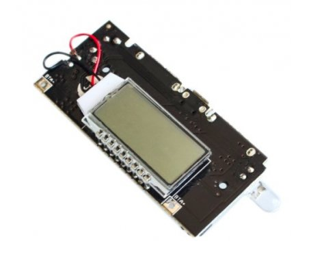 Dual USB 5V 1A 2.1A Mobile Power Bank 18650 Battery Charger Module w/ LCD display