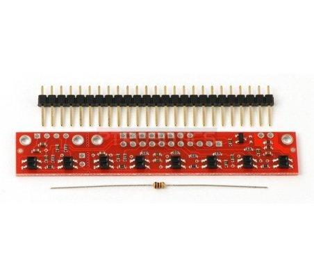 QTR-8RC Reflectance Sensor Array | Sensores Ópticos |