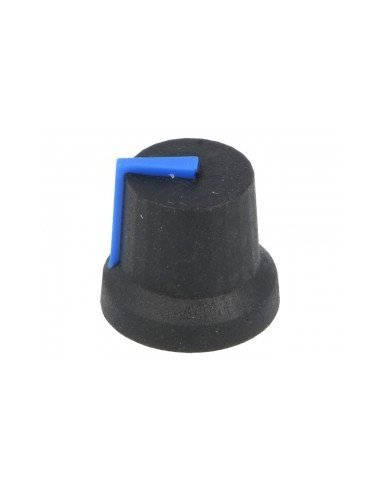 Knob 15.7mm Black with Blue Line | Botões |
